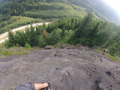 Rock Climbing Photo: View from the top of 1st pitch of ES-2