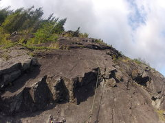 Rock Climbing Photo: Looking up the 2nd pitch of ES-2