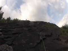 Rock Climbing Photo: Looking up the 1st pitch of ES-2