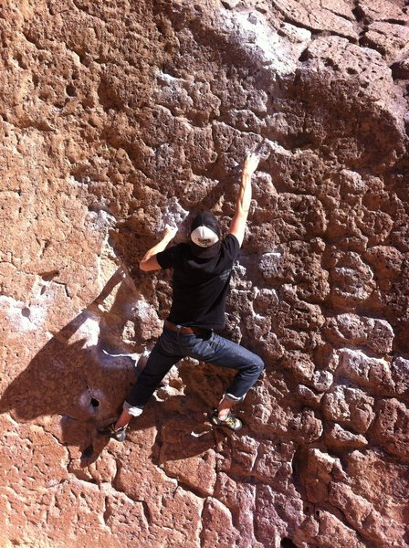 Rock Climbing Photo: solarium v4 happy boulders