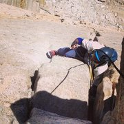Rock Climbing Photo: Patrick busting the final OW moves to the west rid...