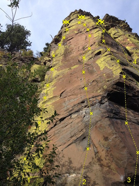 Rock Climbing Photo: STRINGS sub-area (far left) 1 Route 01 (5.11) 2 Ar...