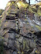 Rock Climbing Photo: STRINGS sub-area (left) 3 Route 03 4 Crowbar 5 Rou...