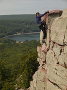 Rock Climbing Photo: Topping out Brinton's Crack 2014-08-17