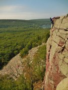 Rock Climbing Photo: Topping out Brinton's Crack 2014-08-17 (2)