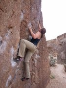 Rock Climbing Photo: Solarium (V4), Happy Boulders, Bishop