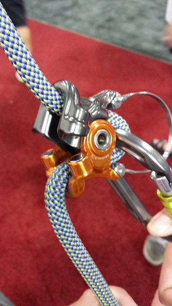 Rock Climbing Photo: DMM's new hinged, magnetic Grip belay device was a...