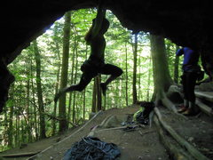 Rock Climbing Photo: Just messing around on the start of Audie in the s...