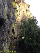 Rock Climbing Photo: STRINGS sub-area (far right) 7 White Lime (5.11) 8...
