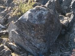 The warmup boulder.