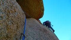 Rock Climbing Photo: Hairlip's 2nd pitch traverse.
