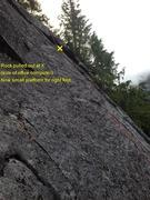 Rock Climbing Photo: Rockfall