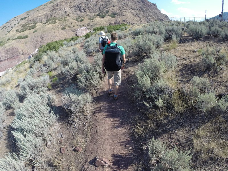 Todd Smith and Dave LaSorte approach into Parley's Canyon. This is after you park at the dead end.