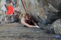 Rock Climbing Photo: Climber Kristina Suorsa.  Photo by Anthony Johnson...