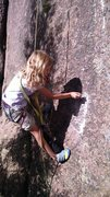 Rock Climbing Photo: Norah's favorite part of bolting new routes, blowi...