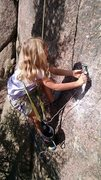 Rock Climbing Photo: Finishing up the job, Prancer 5.7 in Unicorn Valle...