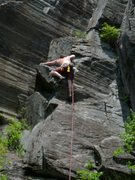 Rock Climbing Photo: Me starting up on a hot July day.