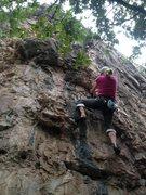 Rock Climbing Photo: Tamara getting after it.