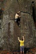 Rock Climbing Photo: Laying back up 3 Star