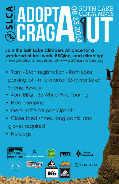 There is more work to be done at the popular Ruth Lake crags in the Uintas... if you plan to climb here this weekend, please be accommodating to volunteers trying to make crag improvements to better the access for all.