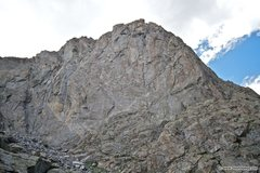 Rock Climbing Photo: The southeast face of Warbonnet. THe Black Elk rou...