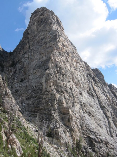 South West Ridge of Symmetry Spire from the shoulder