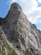 Rock Climbing Photo: South West Ridge of Symmetry Spire from the should...