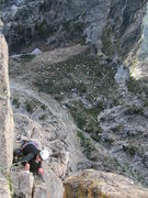 Rock Climbing Photo: Pulling through the final moves of Symmetry Spire ...