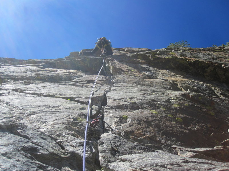 Rock Climbing Photo: Tyler working the first roof