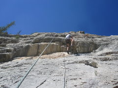 Brent working a crux.