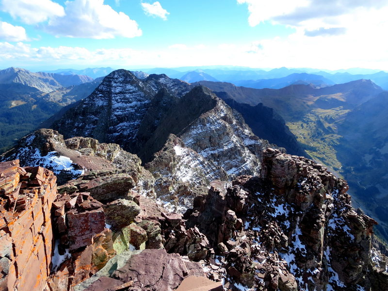 Rock Climbing Photo: The full ridge in view.
