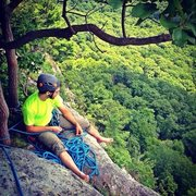 Rock Climbing Photo: Top of Disneyland Gunks