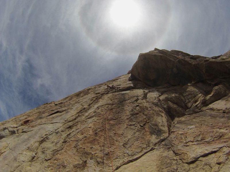 Rock Climbing Photo: 2nd pitch up Leonids (El Cajon Mt.)