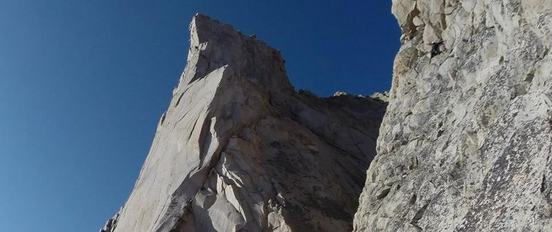 third pillar on the left. approach/downclimb on the right