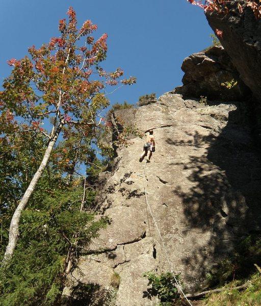 Rock Climbing Photo: Sandor Nagy leading Funny Farm
