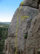 Rock Climbing Photo: Doc's Holiday (5.10c), Holcomb Valley Pinnacles