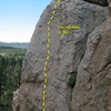 Doc's Holiday (5.10c), Holcomb Valley Pinnacles