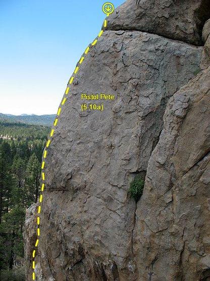 Rock Climbing Photo: Pistol Pete (5.10a), Holcomb Valley Pinnacles