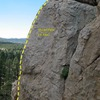 Pistol Pete (5.10a), Holcomb Valley Pinnacles