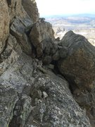 Rock Climbing Photo: view looking back through the eye of the needle (w...