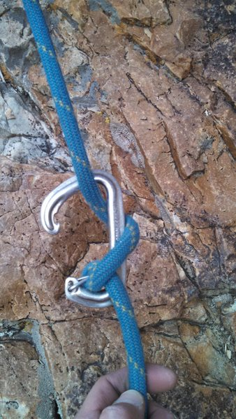 Rock Climbing Photo: Best to always use locking biner when clove hitchi...