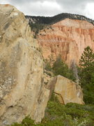 Rock Climbing Photo: South Boulder in the foreground and North Boulder ...