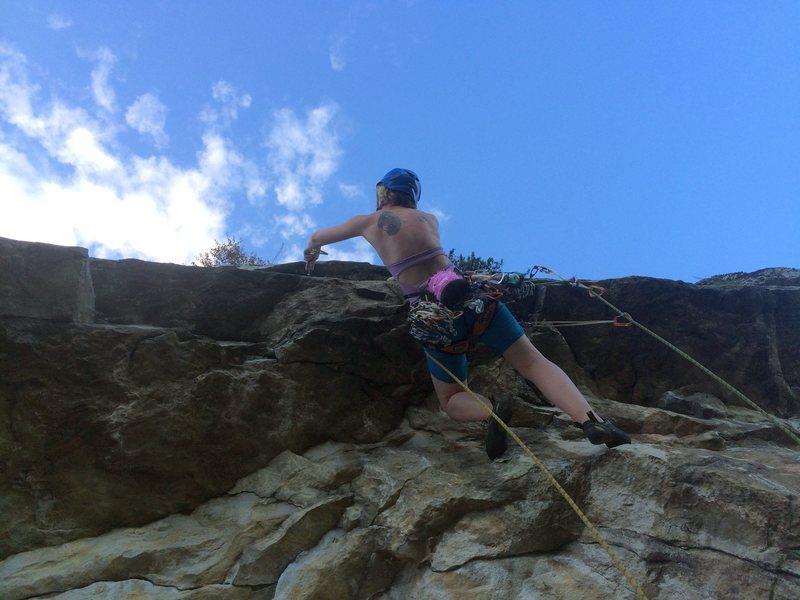 Rock Climbing Photo: Tiff on p2