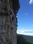 Rock Climbing Photo: Tiffany starting p2