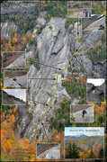Rock Climbing Photo: Chapel Pond Slab Regular Route