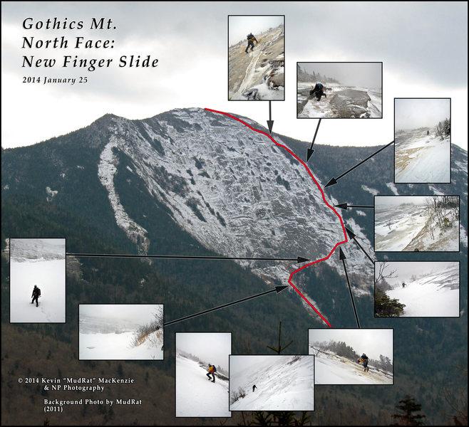 Rock Climbing Photo: Gothics North Face Finger Slide (5.1)