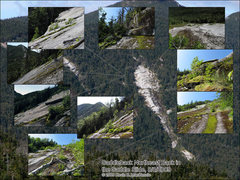 Rock Climbing Photo: Saddleback Mtn. Back in the Saddle Slide (pre Iren...