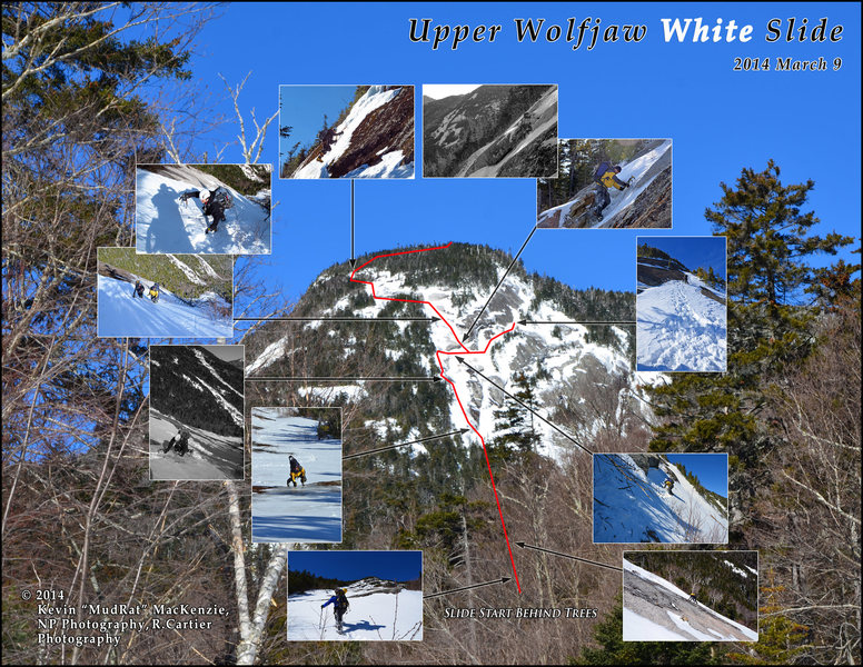 Rock Climbing Photo: Upper Wolfjaw Mtn. White Slide - Winter