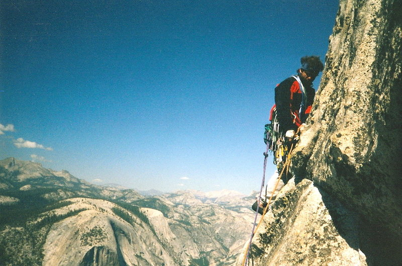 Half Dome NWF Regular Route - one of the upper pitches