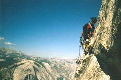 Rock Climbing Photo: Half Dome NWF Regular Route - one of the upper pit...